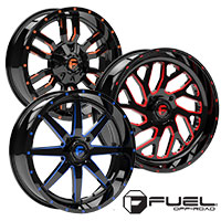 FUEL OFF-ROAD Wheels offered in Red, Blue, and Orange!